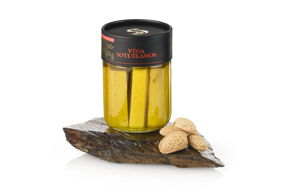 Tarro queso curado en aceite de oliva